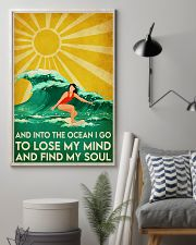 surfing girl find my soul 11x17 Poster lifestyle-poster-1