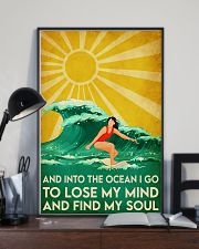 surfing girl find my soul 11x17 Poster lifestyle-poster-2