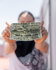 female veteran i dont have an inside voice mas Cloth Face Mask - 3 Pack aos-face-mask-lifestyle-07