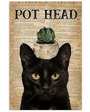 garden pot head cat 11x17 Poster front