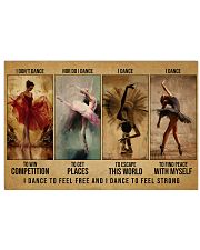 ballet dance to feel pt lqt-DVH 17x11 Poster front