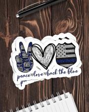 Police peace love sticker Sticker - 6 pack (Horizontal) aos-sticker-6-pack-horizontal-lifestyle-front-05