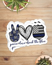 Police peace love sticker Sticker - 6 pack (Horizontal) aos-sticker-6-pack-horizontal-lifestyle-front-07