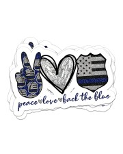 Police peace love sticker Sticker - 6 pack (Horizontal) front