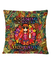 pillow-hippie-old-2 Square Pillowcase back