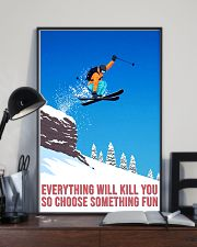 skiing choose something fun poster 11x17 Poster lifestyle-poster-2
