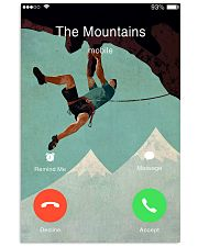 climbing mountain is calling poster 11x17 Poster front