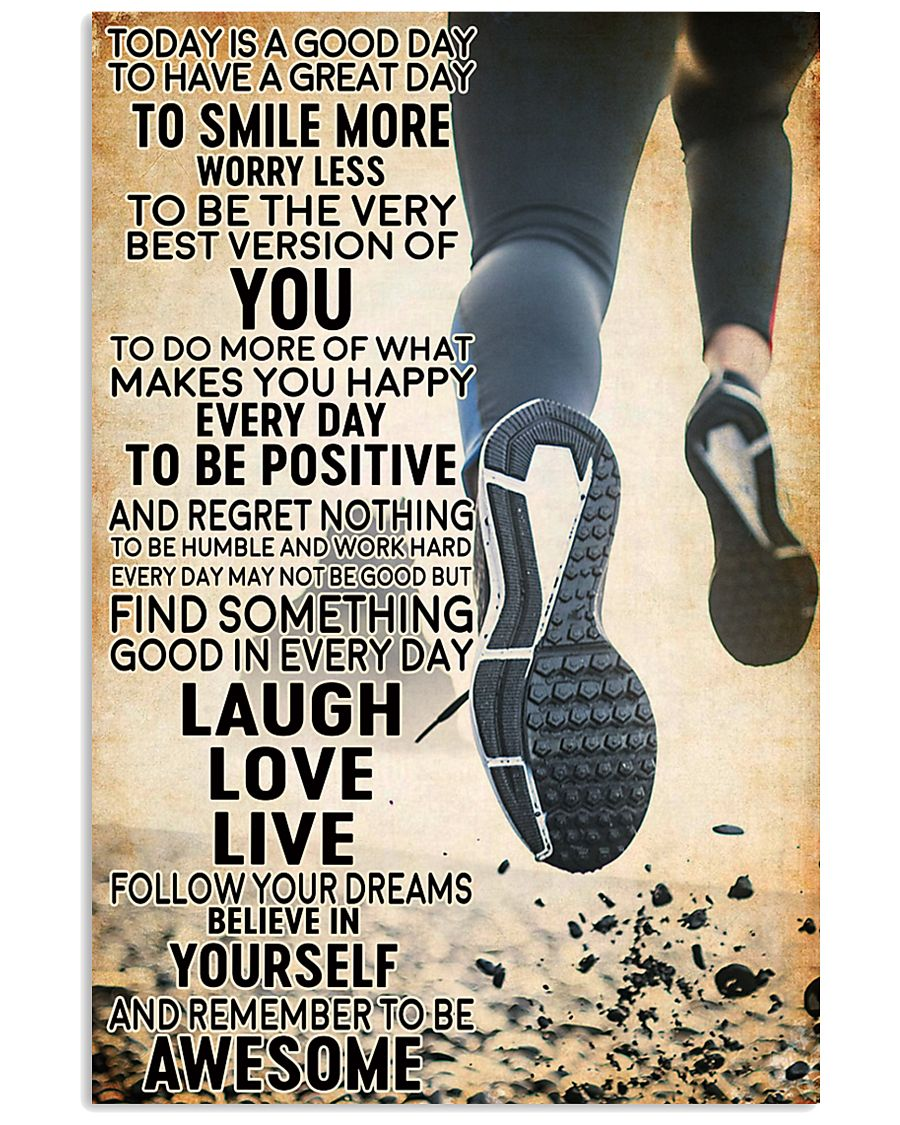 running today 16x24 Poster
