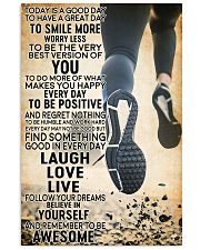 running today 16x24 Poster front
