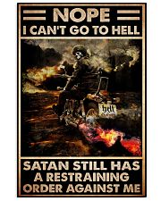 biker nope cant go hell satan 11x17 Poster front