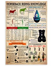 Horseback Riding knowledge1 11x17 Poster front