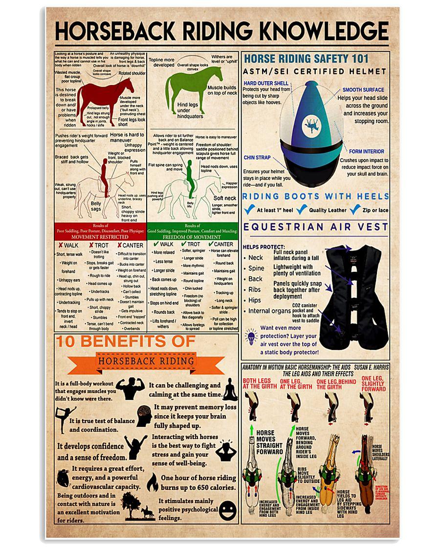 Horseback Riding knowledge1 24x36 Poster