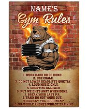 Bear gym rules pt phq pml-1 11x17 Poster front