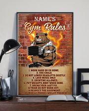 Bear gym rules pt phq pml-1 11x17 Poster lifestyle-poster-2