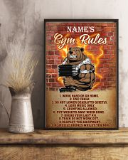 Bear gym rules pt phq pml-1 11x17 Poster lifestyle-poster-3