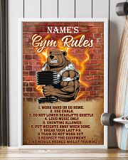 Bear gym rules pt phq pml-1 11x17 Poster lifestyle-poster-4