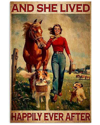 Girl With Horse And Dogs Happily Ever After