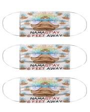 sloth yoga namastay mas Cloth Face Mask - 3 Pack front