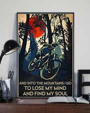 cycling find my soul poster 11x17 Poster lifestyle-poster-2