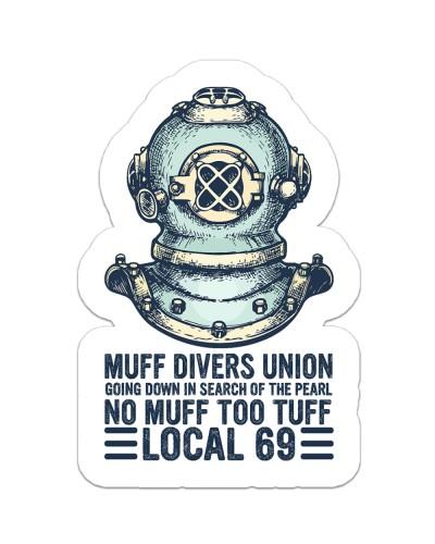 scuba Muff Divers Union sticker