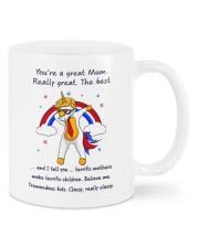 you're a great mum unicorn mug phq nth Mug front
