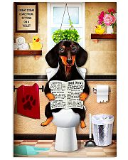 dachshund bathroom 24x36 Poster front