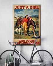 Girl Loves Horses and Dogs 16x24 Poster lifestyle-poster-7