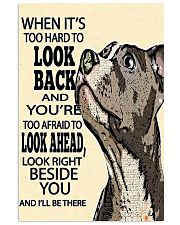 pitbull hard to look back 11x17 Poster front