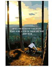 mountain biking of all the paths you take in life 11x17 Poster front