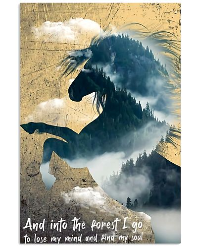 horse forest I go poster