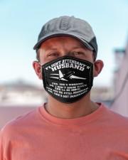 flight attendant's husband mas Cloth face mask aos-face-mask-lifestyle-06