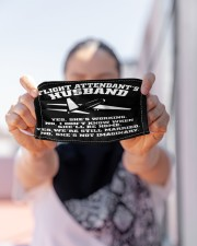 flight attendant's husband mas Cloth face mask aos-face-mask-lifestyle-07