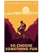 mountain bike journey mas 11x17 Poster thumbnail