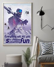 skiing choose something fun 19 poster 11x17 Poster lifestyle-poster-1