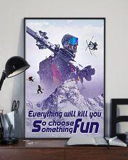 skiing choose something fun 19 poster 11x17 Poster lifestyle-poster-2