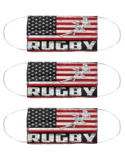 Rugby us flag mas Cloth Face Mask - 3 Pack front