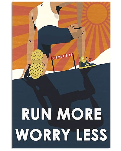 run more worry less poster