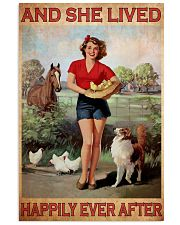 Horse dog she lived happily 16x24 Poster front
