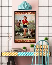 Horse dog she lived happily 16x24 Poster lifestyle-poster-6