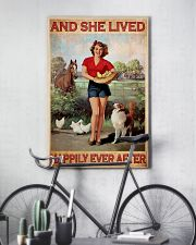 Horse dog she lived happily 16x24 Poster lifestyle-poster-7