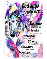 horse God says you are 16x24 Poster front