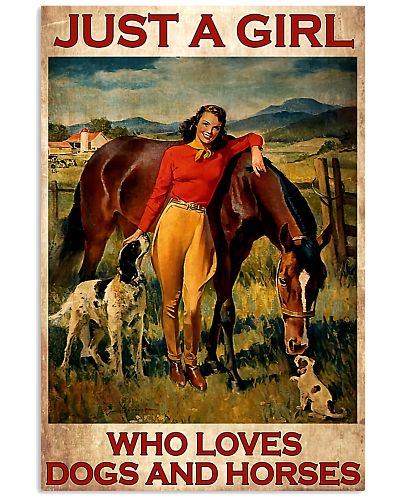 Girl Loves Horses and Dogs poster