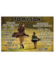 golf dad to my son pt lqt ngt ads 17x11 Poster front