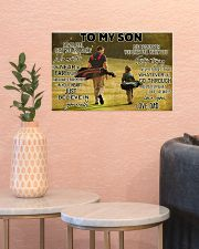 golf dad to my son pt lqt ngt ads 17x11 Poster poster-landscape-17x11-lifestyle-21
