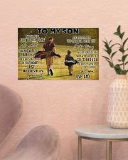 golf dad to my son pt lqt ngt ads 17x11 Poster poster-landscape-17x11-lifestyle-22