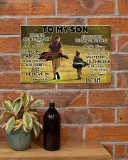 golf dad to my son pt lqt ngt ads 17x11 Poster poster-landscape-17x11-lifestyle-23