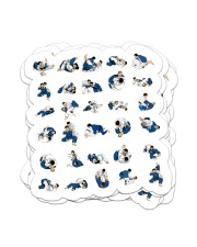 jiu jitsu 30 submissions positions sticker Sticker - 6 pack (Vertical) front