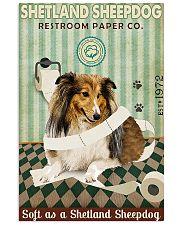 Restroom Paper Company Shetland Sheepdog 11x17 Poster front