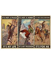 rock climbing not a phase pt phq ngt 17x11 Poster front