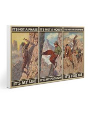 rock climbing not a phase pt phq ngt 30x20 Gallery Wrapped Canvas Prints thumbnail